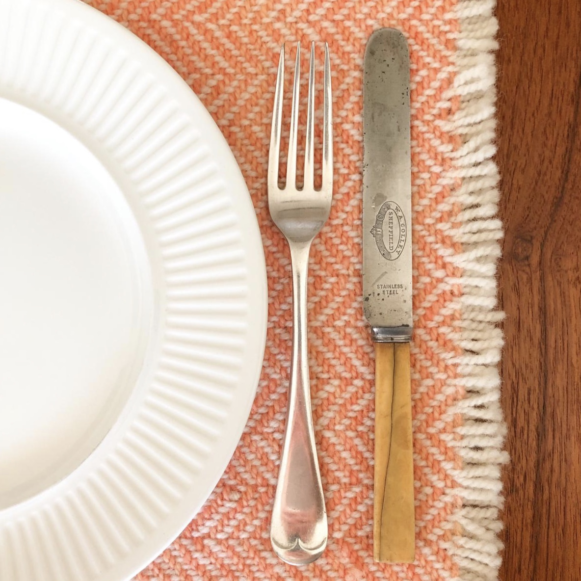 home placemat in apricot