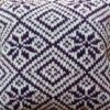 Knitted Diamond-Clematis Cushion CW2001 - All Wool Cover